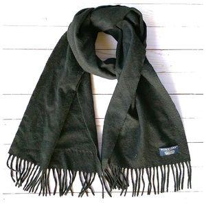 Burberry London Black Cashmere Scarf 60 X 12